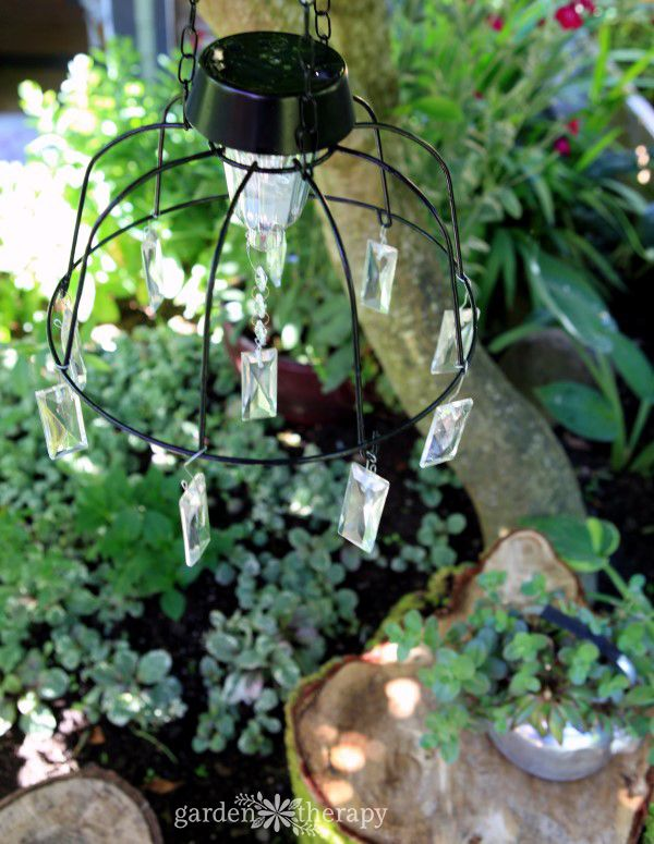 Fairy Light Project: DIY Solar Light Chandelier Home Design Ideas