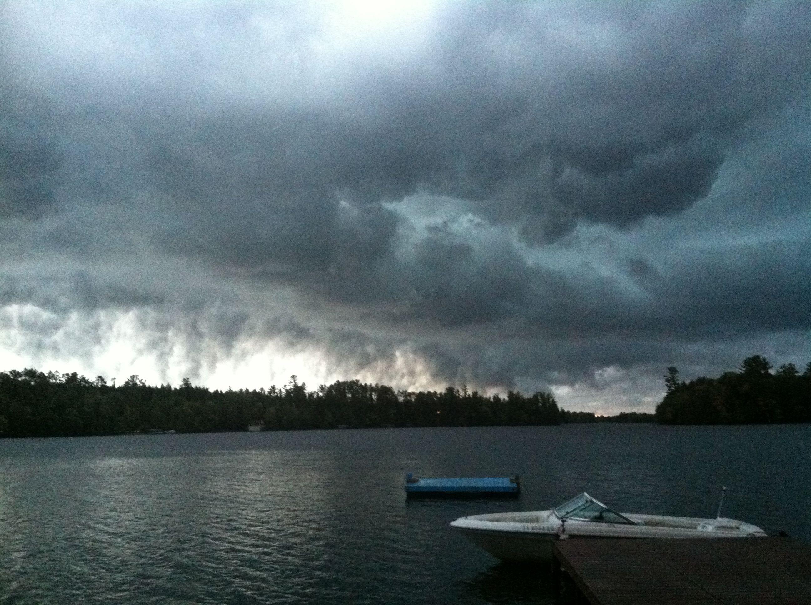 Thunder Storm over my lake - God Bless.