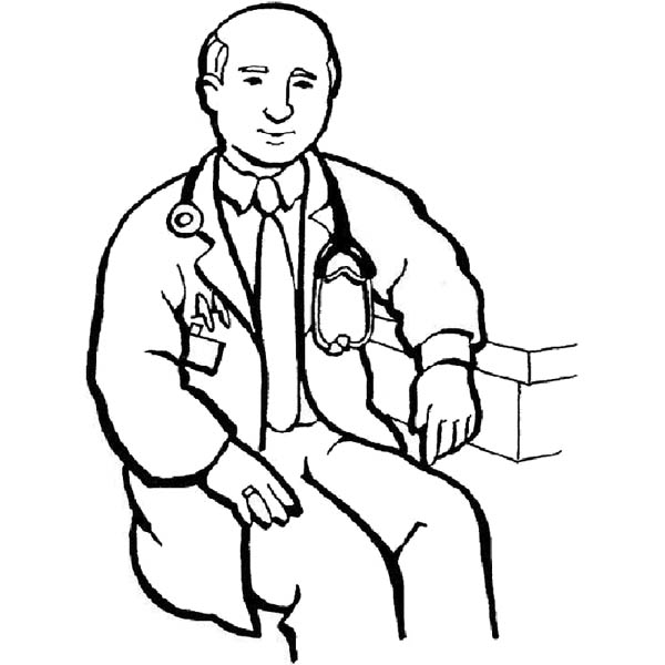 Hospital Male Doctor Coloring Pages Bulk Color Wichtel