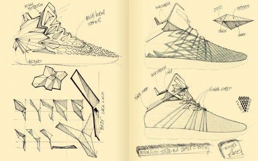 Yeezy 3 Concept Sketches by Brett Golliff | sketchbooks
