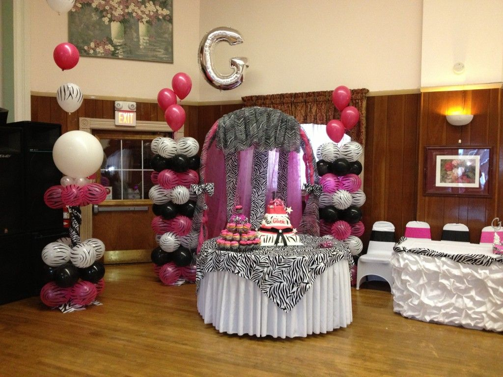 Quinceanera Zebra Hot Pink Decoration Ideas Seshalyns Party