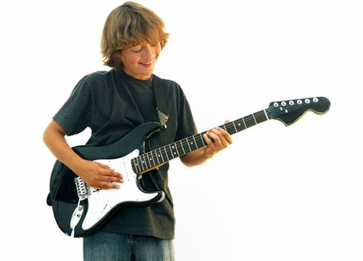 kid playing guitar musical instruments pinterest guitars music school and playing guitar. Black Bedroom Furniture Sets. Home Design Ideas