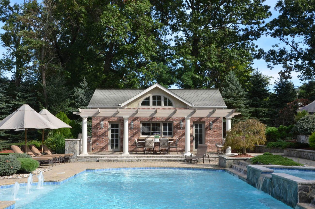 Awesome pool house designs in design pool pergola House plans with pools