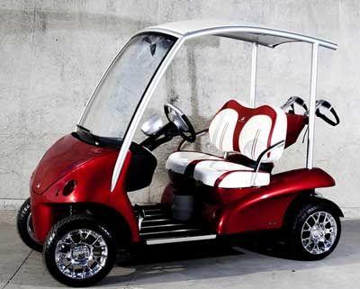 The Porsche-inspired Garia golf Buggy