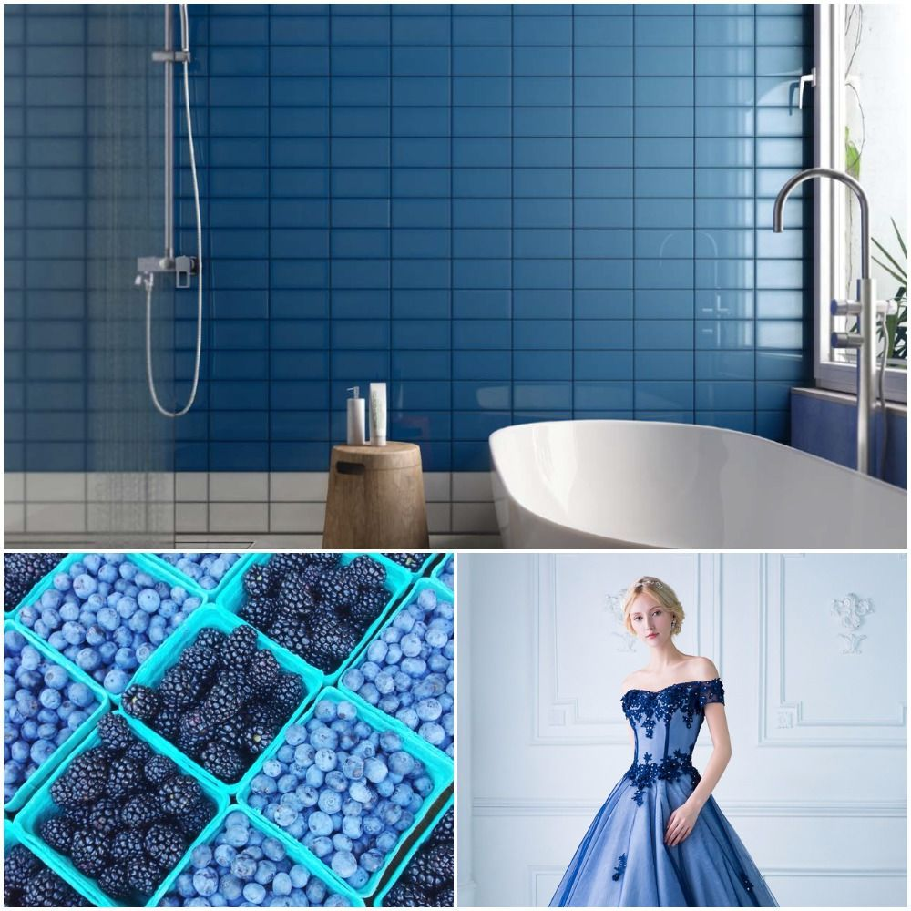 We can talk endlessly about the lovely blue palette. Blue works like ...