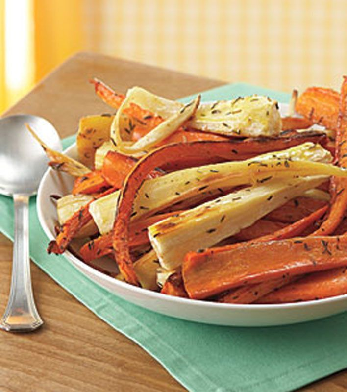 Roasted Carrots and Parsnips   Click