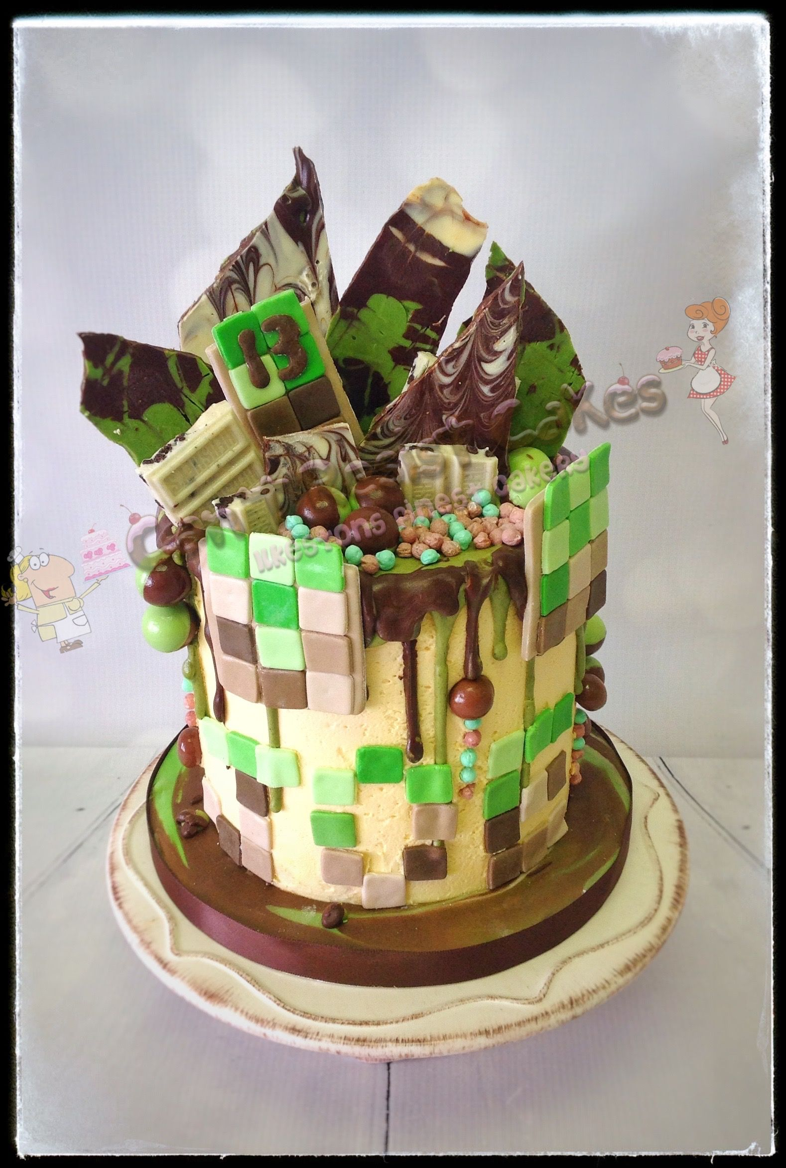 Minecraft Themed Birthday Cake Perfect For Boys Or Girls