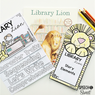 Library Lion Flip Book Activities Addresses Comprehension Sequencing Writing And Story Elements This Is One Of My Favorite Read Alouds