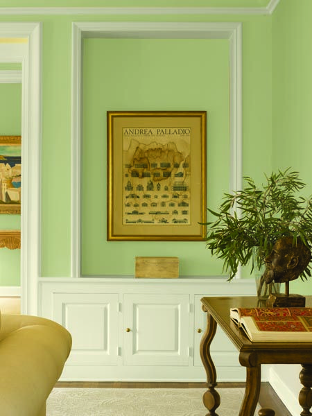 Dunn Edwards Paints Green Paint Color Wall Watercress De5528 Trim Cottage White Dew318 Click For A Free Sample Dunnedwards