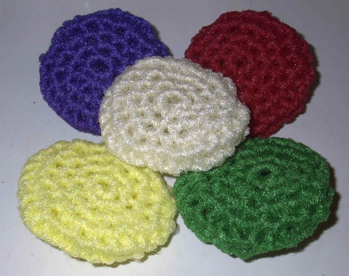 crochet scrubby | White Crochet Nylon Netting Dish,Pot, Bath ...