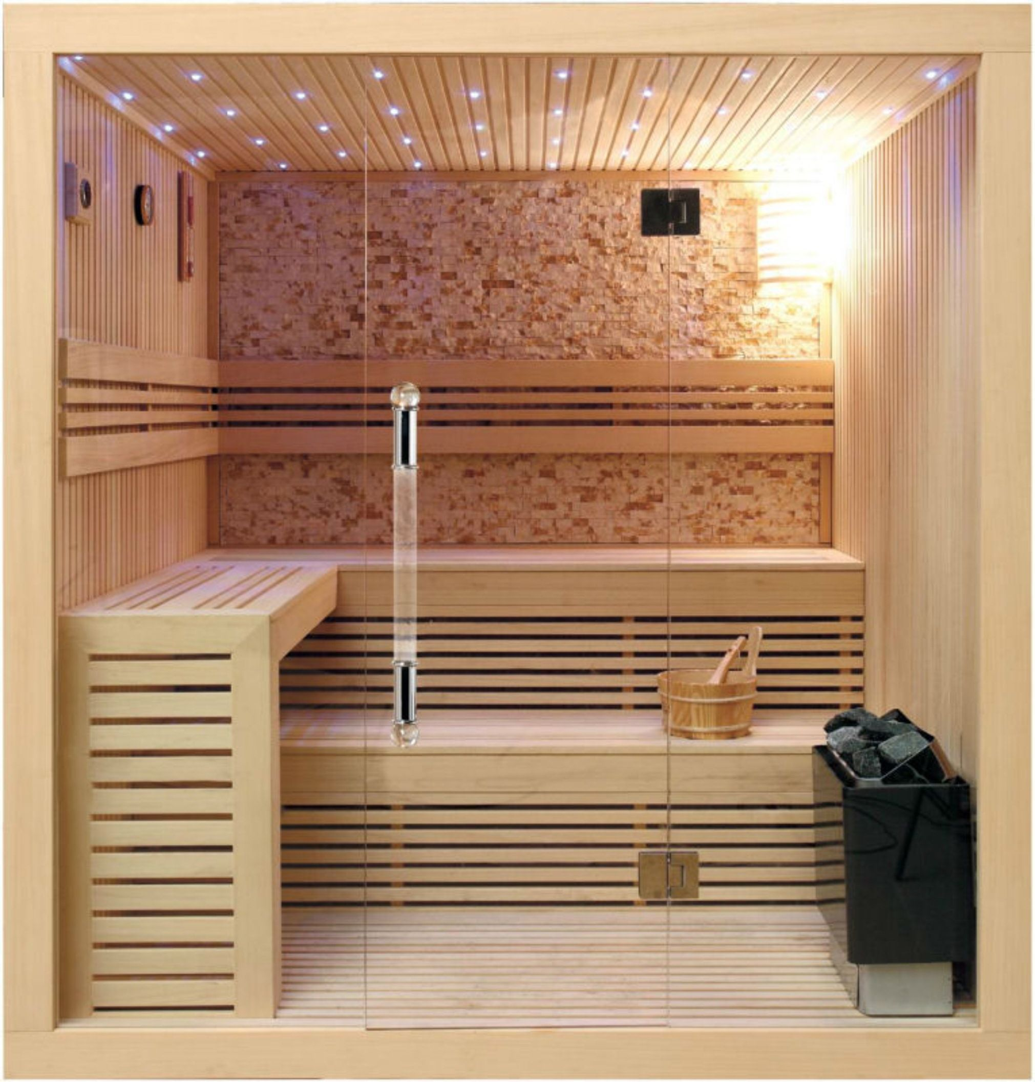 House Modern Sauna Designs For Small Spaces With