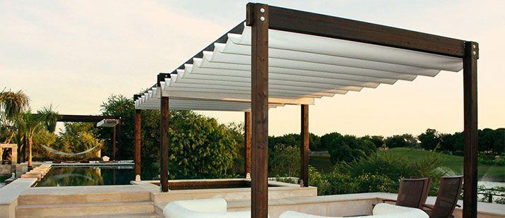 Tende da sole con struttura in alluminio Decorazioni