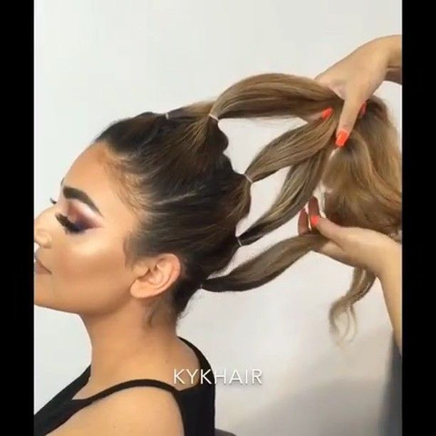 21 7k Likes 138 Comments Hair Video Tutorials Hair Videos On Instagram Triple Knot Mohawk By Kykhai Hair Videos Tutorials Long Hair Mohawk Hair Styles