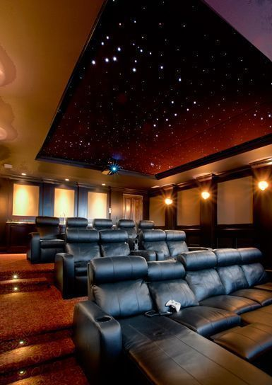 Basement Home Theater Lighting For More Ideas Below Diy Home Theater Decorations Ideas Basement Rooms Red Seating Small Speakers Luxury Tu2026