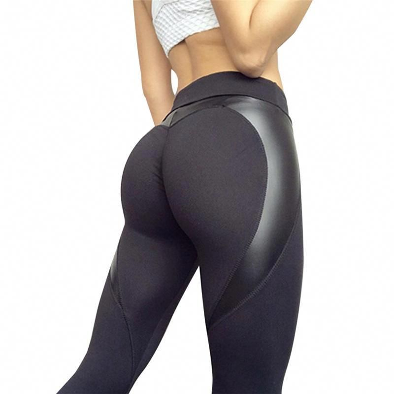 af0865a99a9 Heart Fitness High Waist Slim Stretch Yoga Sports Leggings  yogapantsdesign