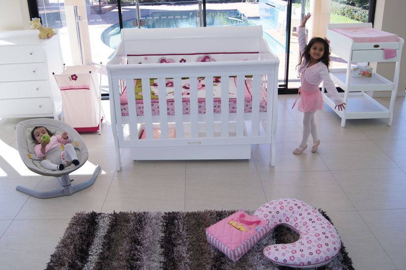 Babyhood Amani Sleigh Cot 6 Piece Package Deal   Cots, Change tables ...