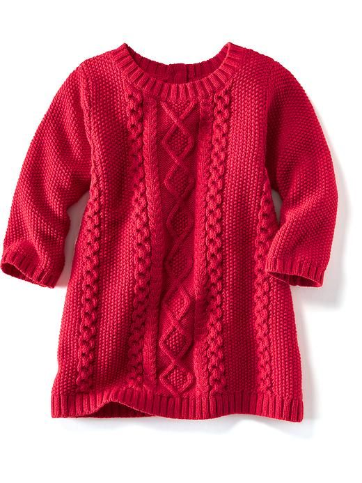 Cable-Knit Sweater Dress for Baby