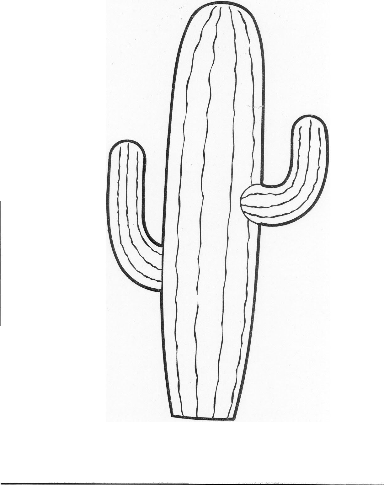 Cactus coloring pages and printables kaartjies