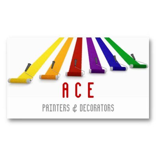 Painters And Decorators Business Card Zazzle Com Decorator Business Card Painter And Decorator Painter Business Card