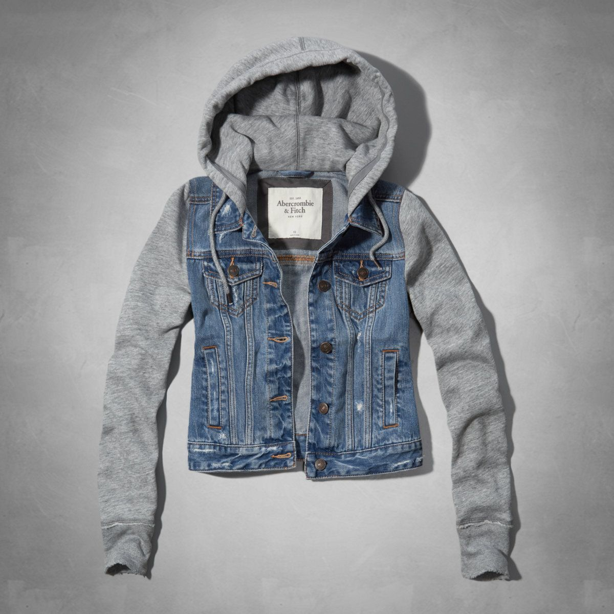 Marisa Denim And Fleece Jacket Fleece Jacket Womens Denim Jacket Women Outerwear Women [ 1200 x 1200 Pixel ]
