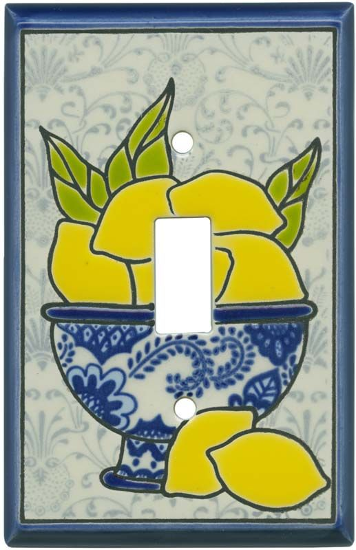 FRESH LEMONS CERAMIC Decorative Switch Plates | China bowl, Ceramic ...