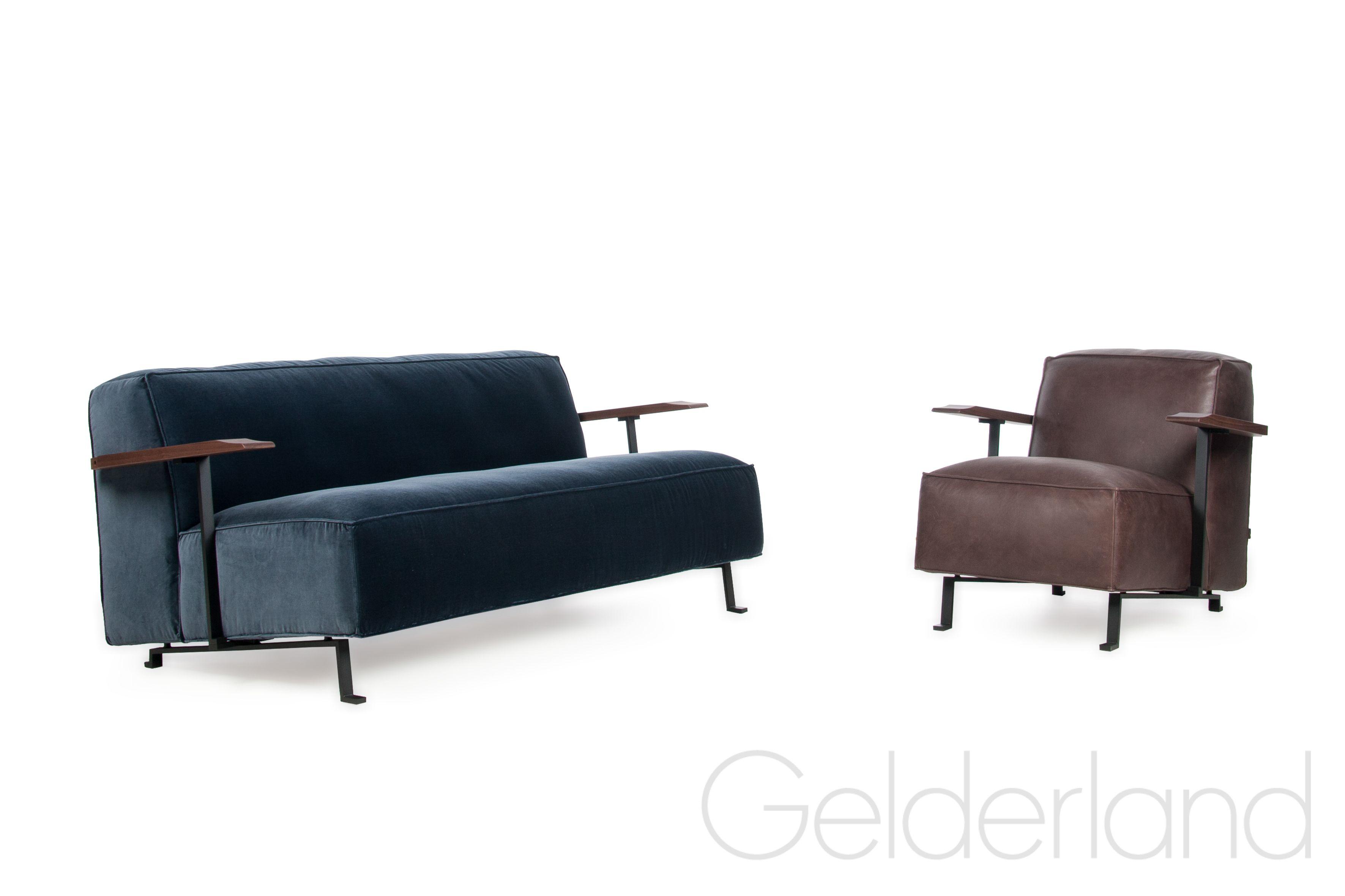 Design Bank En Fauteuil.Gelderland Bank En Fauteuil 6401 Woody Design Bart Vos In Velours