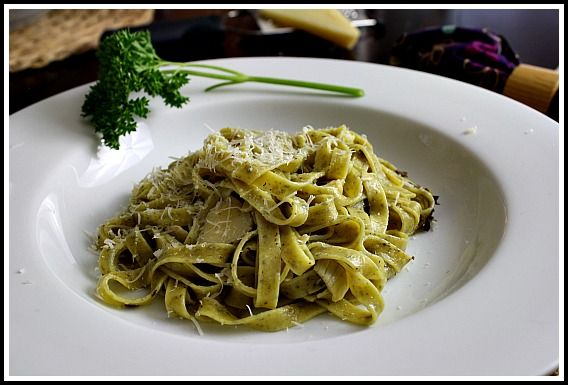 Lemon Basil Pasta with artichokes