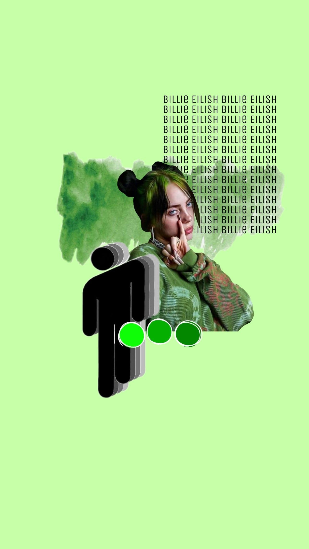 Billie Eilish Background In 2020 Billie Eilish Billie Green Aesthetic