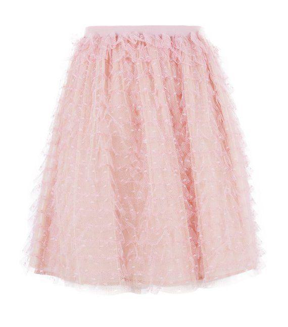 Ruffled Lace Skirt - Valentino Red