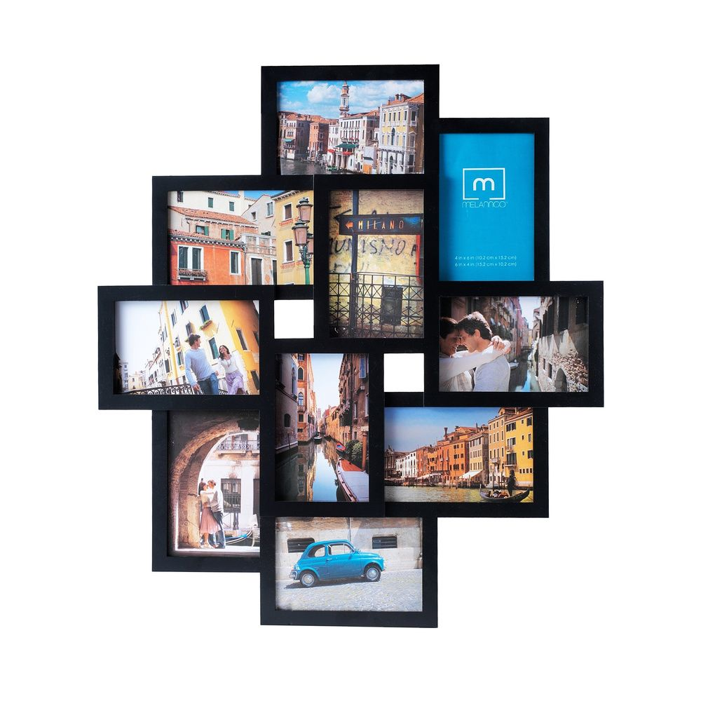 Melannco 10-opening Black Collage Photo Frame | Overstock.com ...