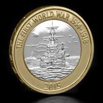 2015 Great Britain First World War Royal Navy Belfast £2 Two Pound Coin Unc