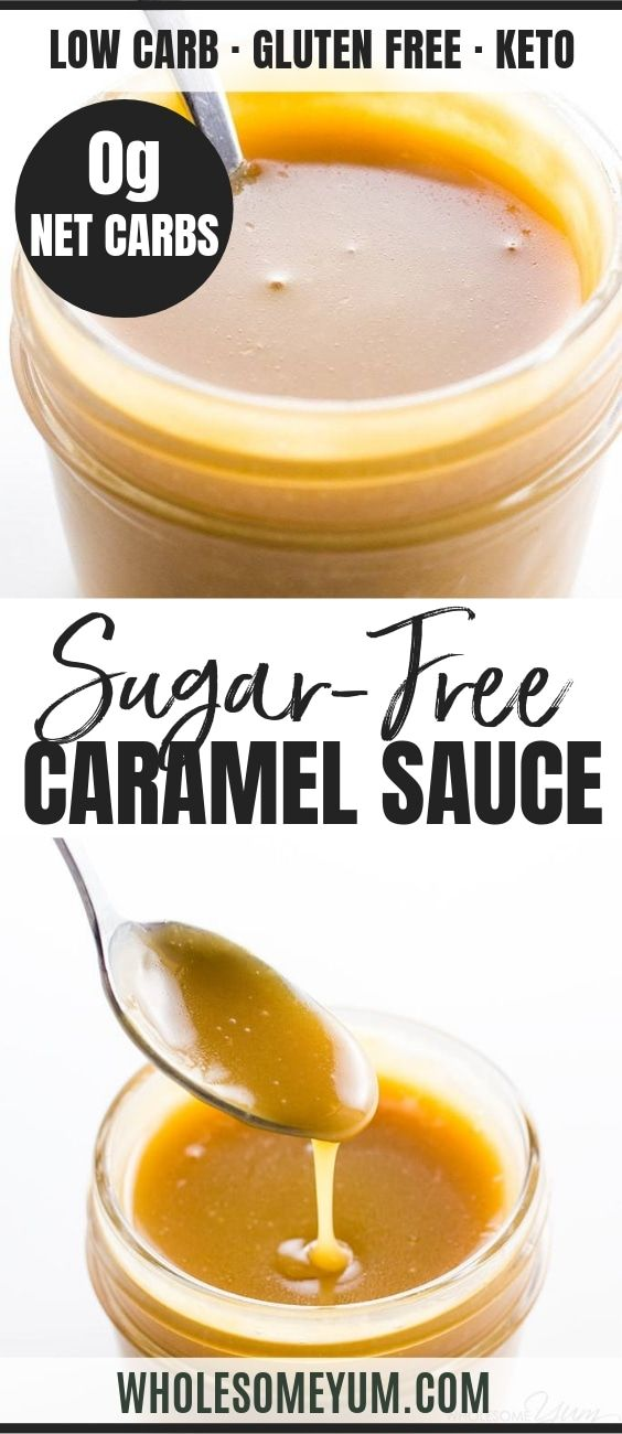 Sugar-free Caramel Sauce Recipe - 4 Ingredients (Low Carb, Keto) #ketoicecream