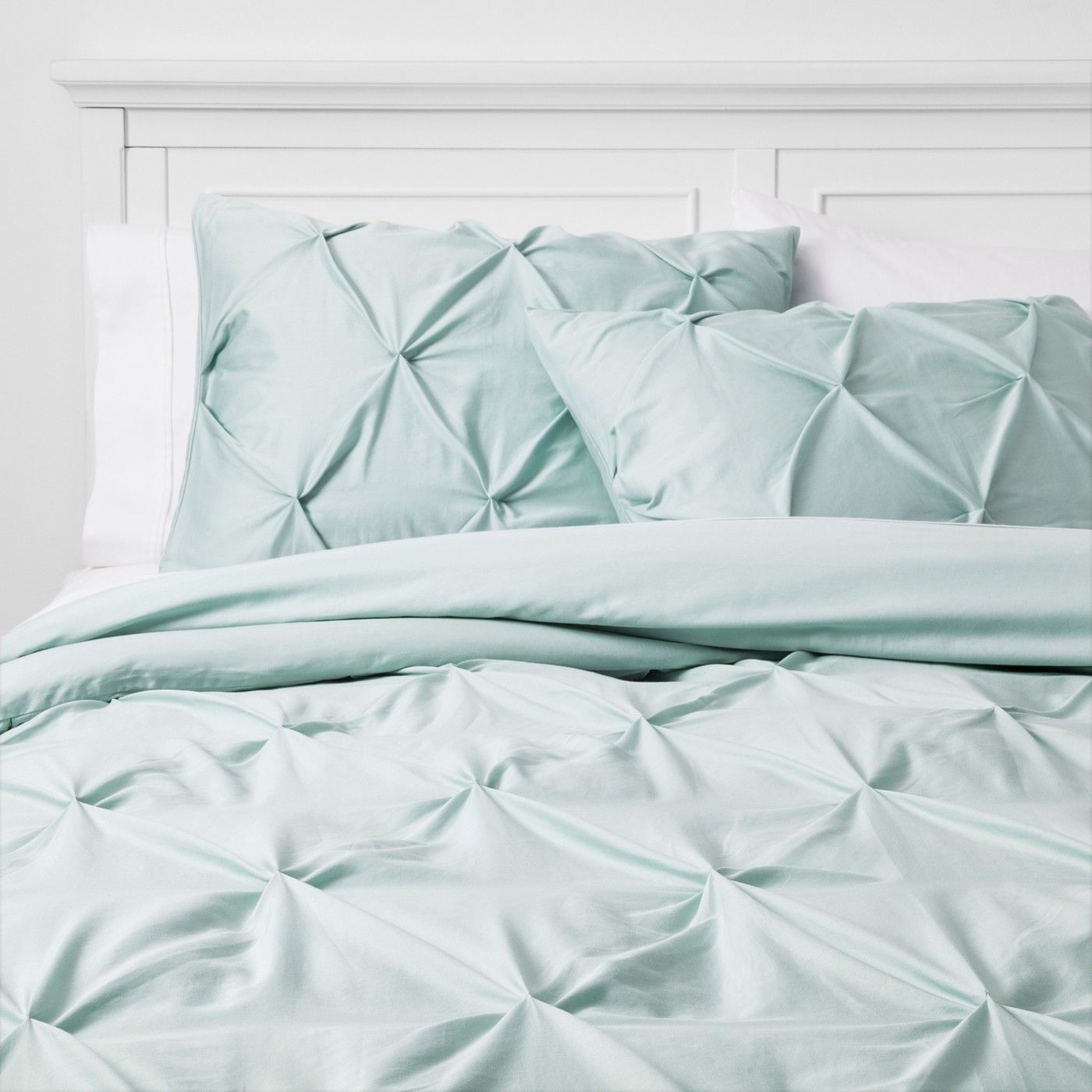 Twin/Twin Extra Long Pinch Pleat Comforter Set Mint