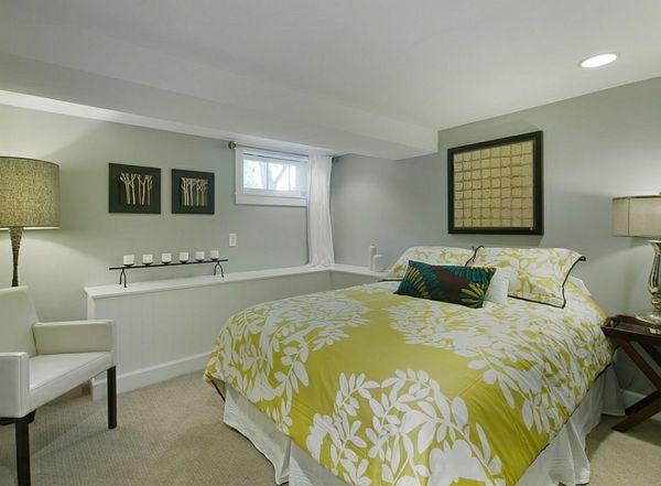 Gemütliches Schlafzimmer ~ Gemütliches schlafzimmer im keller einrichten bettwäsche