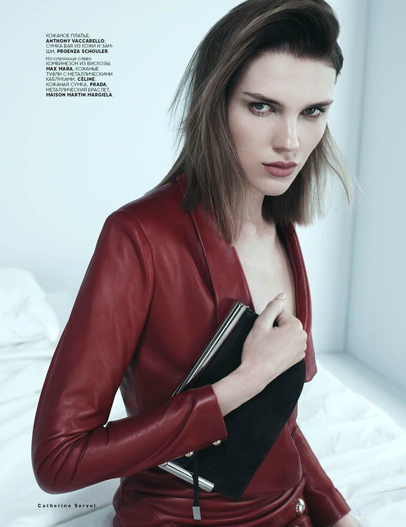 EMMA CHAMPTALOUP BY CATHERINE SERVEL FOR VOGUE RUSSIA