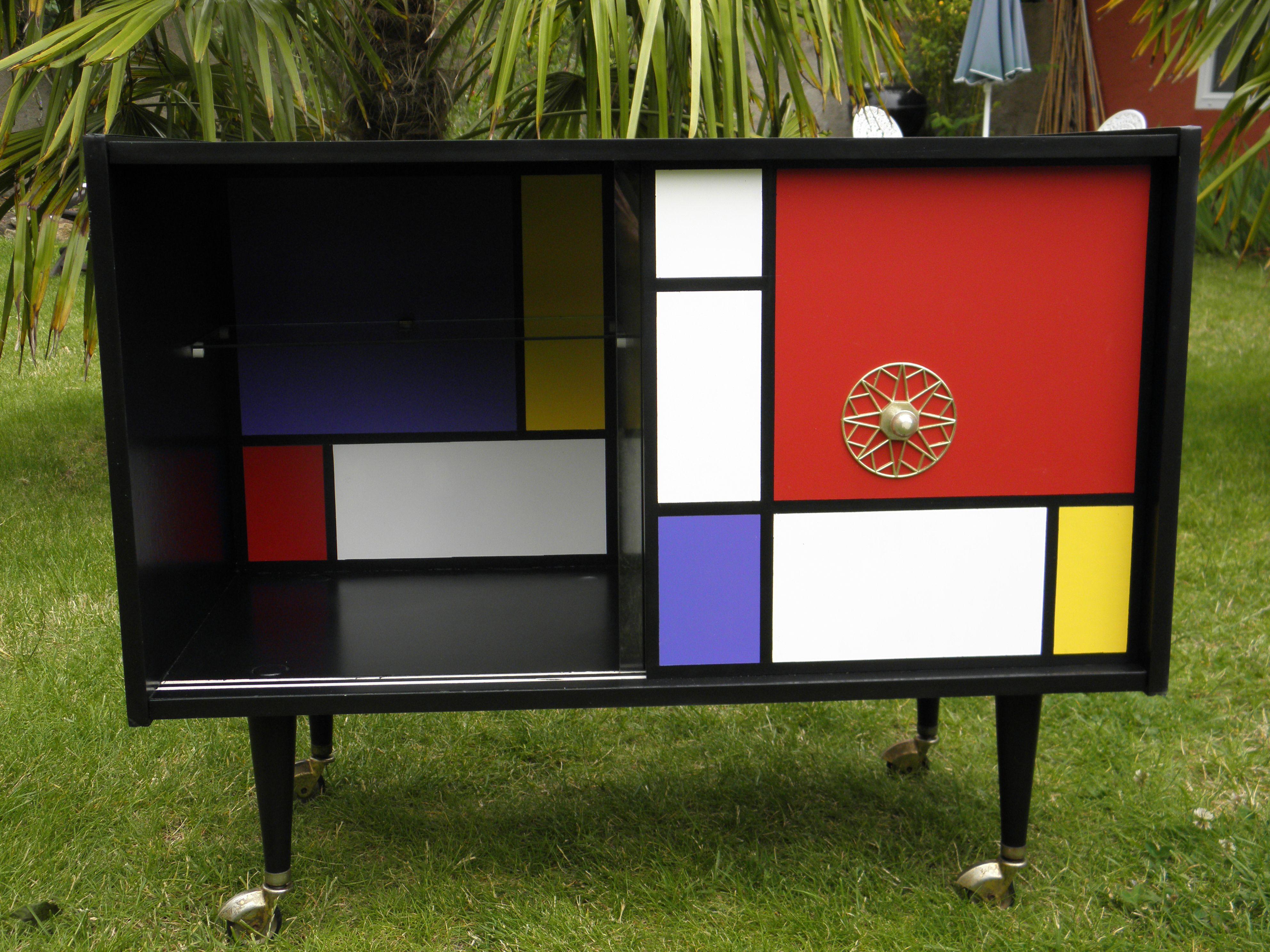 bar meuble tv annees 60 70