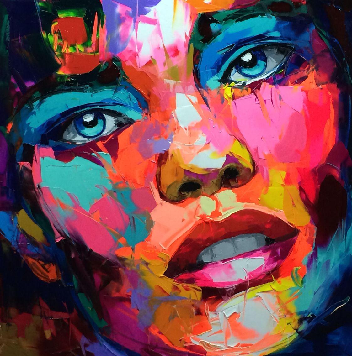 Site Des Artistes Peintres francoise nielly … | portrait abstrait, peinture, portrait