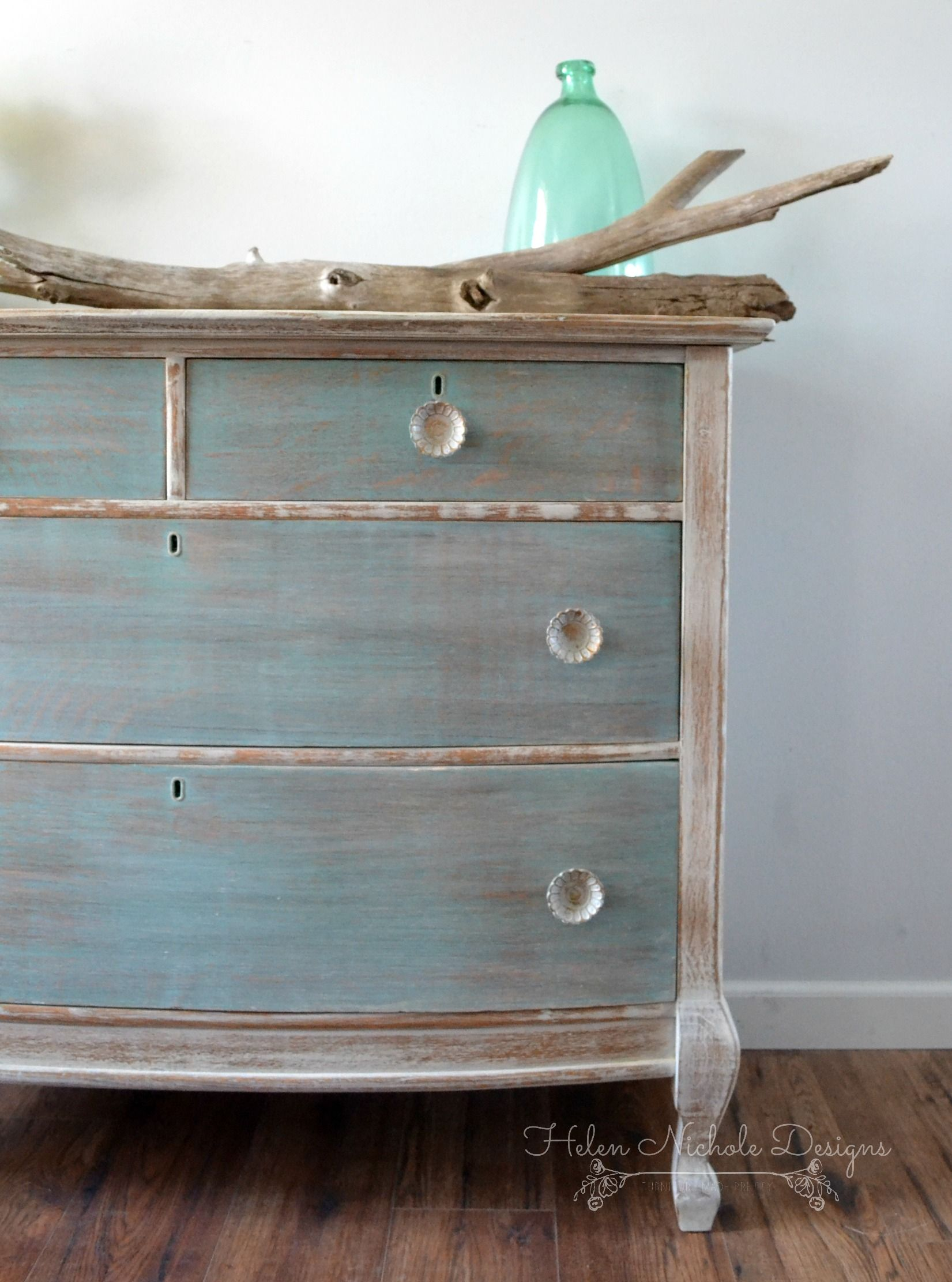 Beachy Wood Plank Dresser Helen Nichole Designs Milk Paint White Washed Furniture