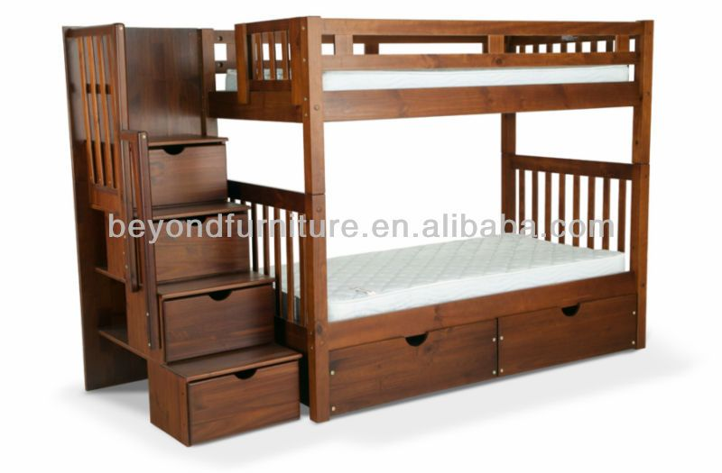 Wooden Bunk Bed I Want This But With A Desk Under It