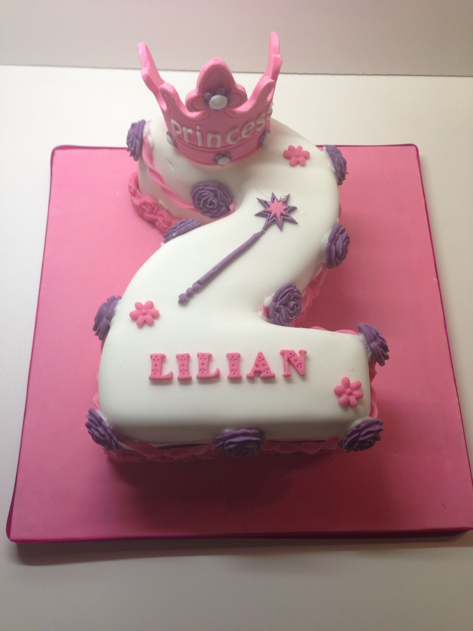 Princess number 2 cake | Cakes, Cookies, Chocolates & More ...