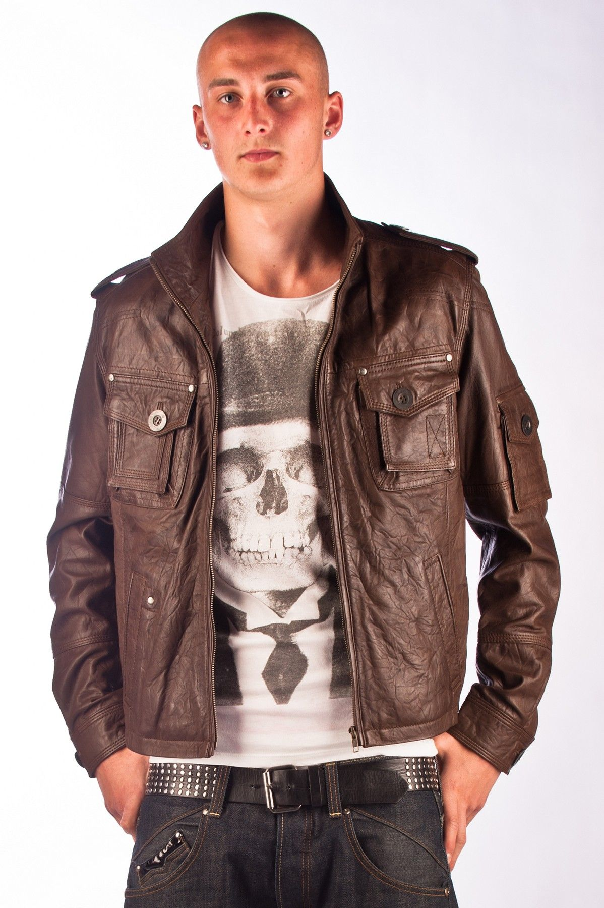 Brown Leather Jackets For Men Leather jacket men, Brown