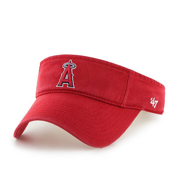 Los Angeles Angels Clean Up Visor Red 47 Brand Adjustable Hat ... ab9bf8a5b30