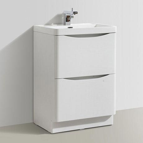 Ronda White Ash 600mm Wide Floor Standing Vanity Unit Now Online Basin Vanity Unit Vanity Units Bathroom Furniture Modern