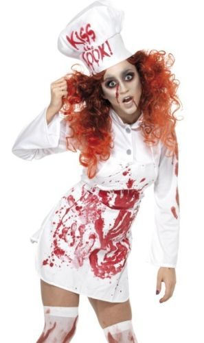 Scary Zombie Top Killer Chef Bloody Cook Halloween Costume Medium | eBay  sc 1 st  Pinterest & Scary Zombie Top Killer Chef Bloody Cook Halloween Costume Medium ...