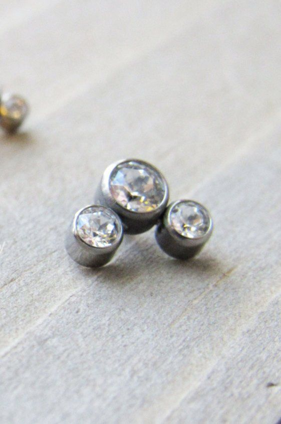 Titanium Cartilage Earring Implant Grade Flat Back Tragus Earring Forward Helix Earring Labret Stud Labret Ring Conch Jewelry