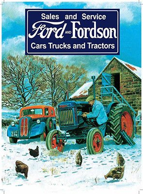 George Oliver Ford And Fordson Sales And Service Vintage Advertisement On Metal Tractors Vintage Tractors Ford Tractors