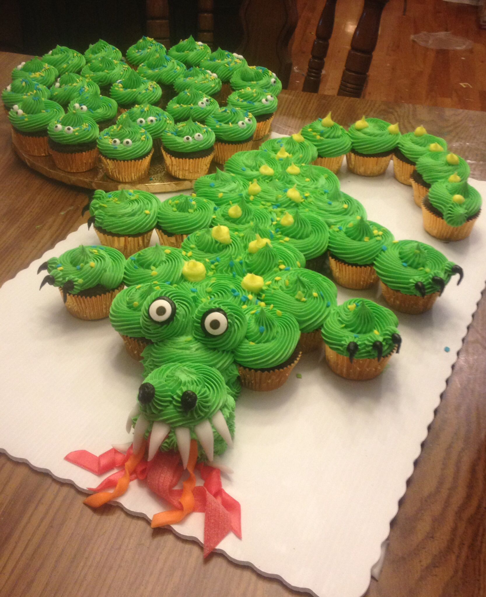 Green Dragon Cake by Shelly