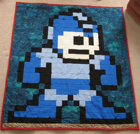 mega man quilt... | To Sew or Not To Sew | Pinterest | Man quilt ... : 8 bit quilt - Adamdwight.com