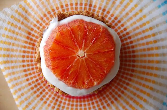 mini blood orange tarts with coconut cream (gluten free/grain free/vegan)