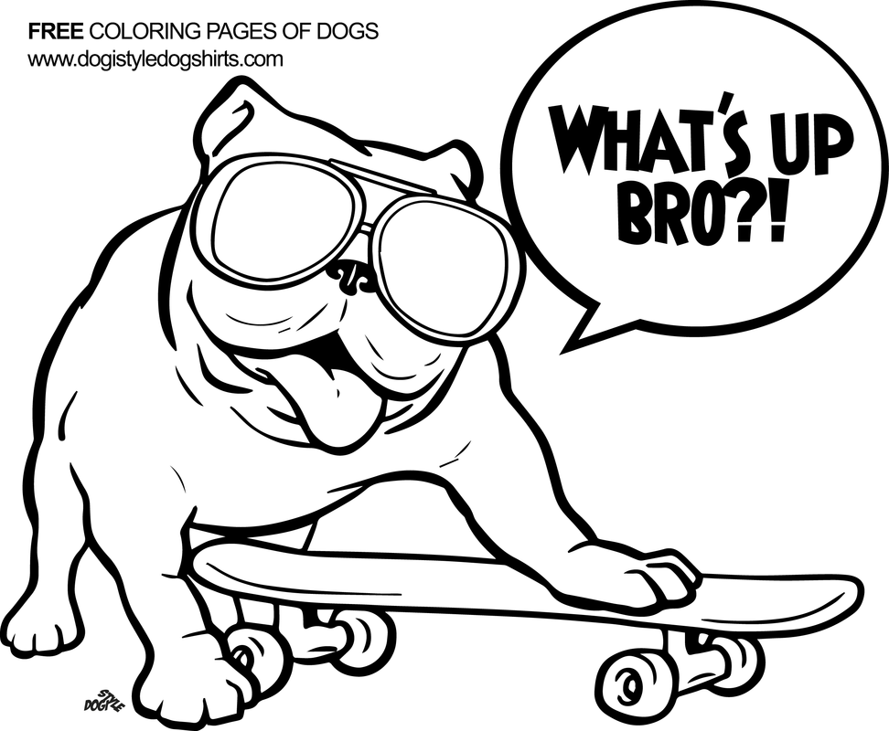 Image result for cartoon english bulldogs to color Dog